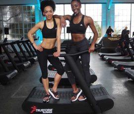women on the trueform runner treadmill