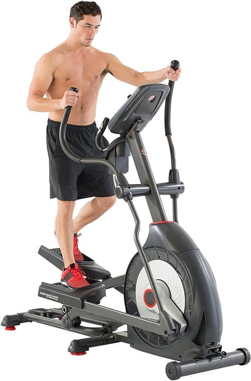 working out on an elliptical machine