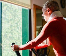 a beginning bike rider does a HIIT workout