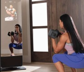 a woman workouts out for our review of the ProForm Vue